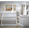 Natart Natart Cortina Crib IN White Chalet , Double Dresser, 5 Drawer Dresser, And Changer