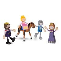 Melissa And Doug Wooden Flexible Figures - Royal Kingdom