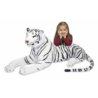 Melissa And Doug White Tiger Giant Stuffed Animal