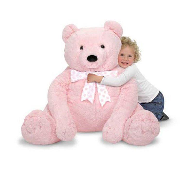Melissa And Doug Plush Jumbo Pink Teddy Bear