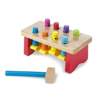 Melissa And Doug Deluxe Pounding Bench Toddler Toy