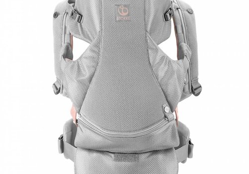 Stokke Stokke MyCarrier Front And Back Carrier In Pink Mesh