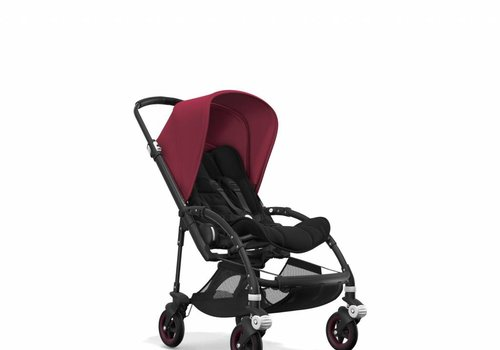 Bugaboo Bugaboo Bee5 Complete Black Frame/ Black Seat and Sun Canopy In Ruby Red