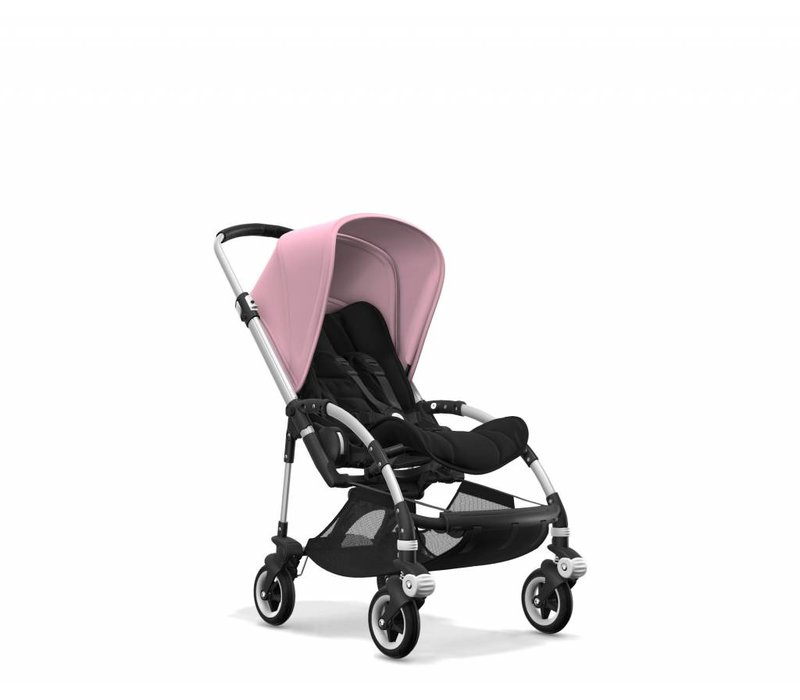 Bugaboo Bee5 Complete Aluminum Frame/ Black Seat And Soft Pink  Canopy