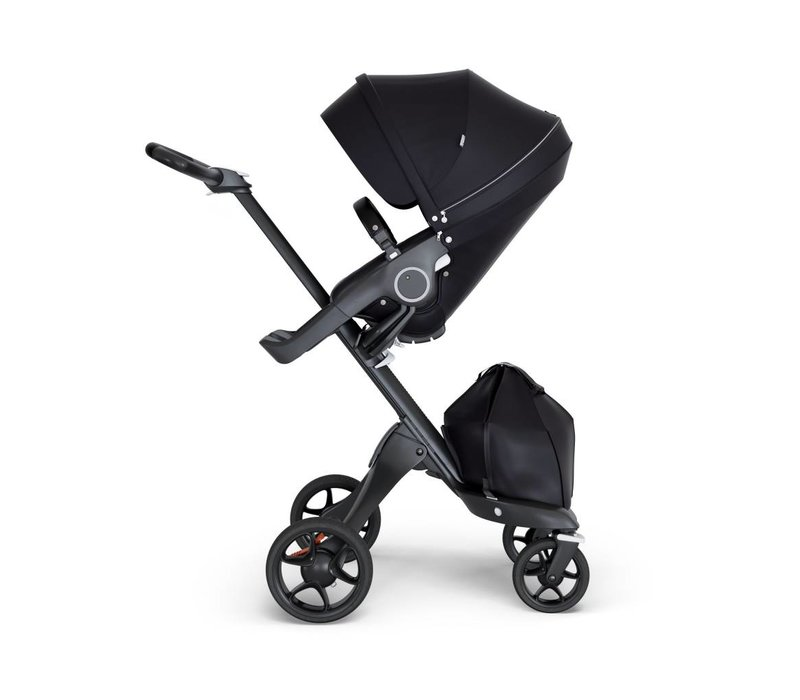 2018 Stokke Xplory Black Chassis -Stroller Seat Black and Black Handle