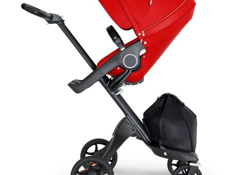 Stokke 2020 Stokke Xplory Black Chassis -Stroller Seat Red and Black Handle