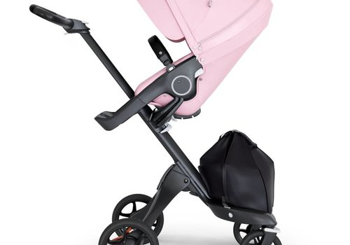 Stokke 2020 Stokke Xplory Black Chassis -Stroller Seat Lotus Pink and Black Handle