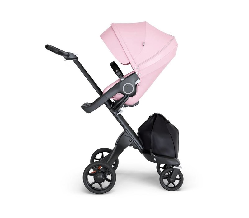 2019 Stokke Xplory Black Chassis -Stroller Seat Lotus Pink and Black Handle