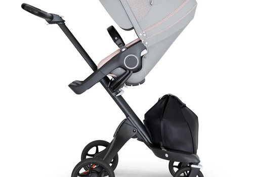 Stokke 2018 Stokke Xplory Black Chassis -Stroller Seat Athleisure Pink and Black Handle