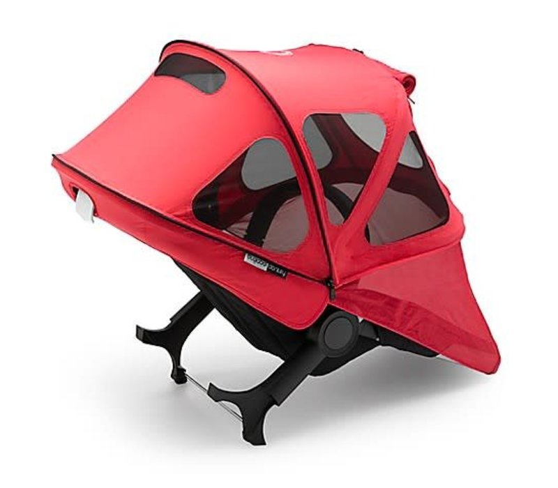 Bugaboo Donkey2 Breezy Sun Canopy In Neon Red