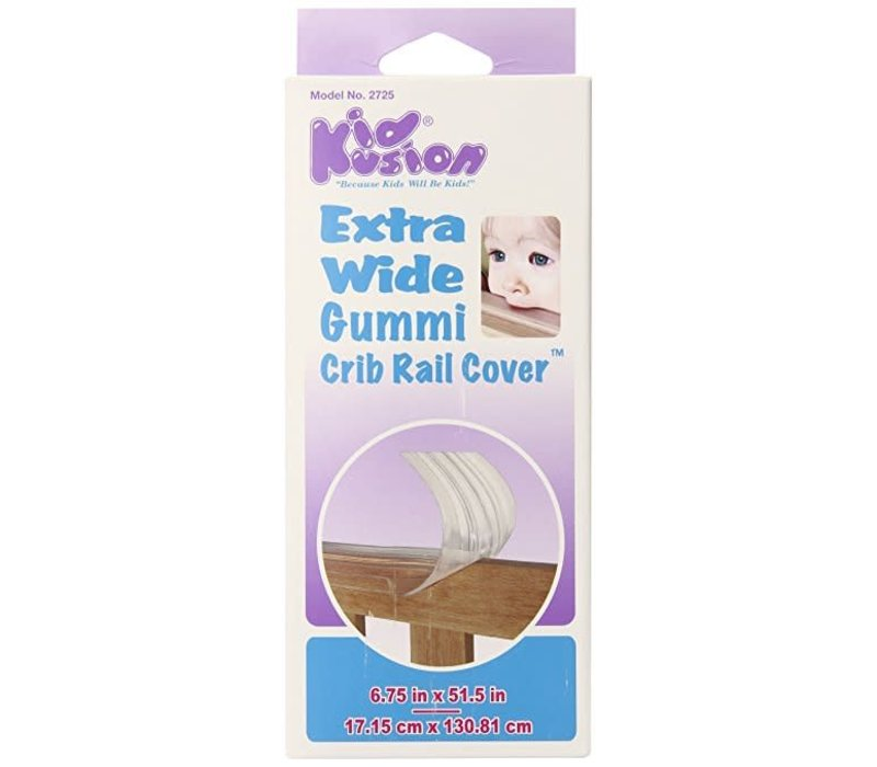 Kid Kusion Gummi Crib Rail Clear Extra Wide