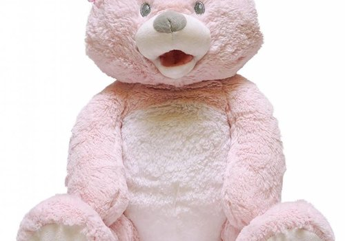 Cuddle Barn Cuddle Barn Animated Baby 1st Lullaby Teddie Pink