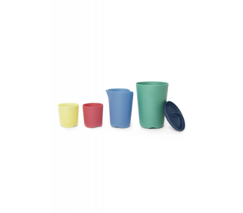 Stokke Flex Bath Toy Cups In Multi Colour