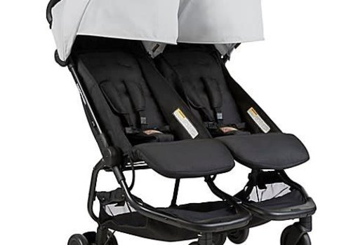 Mountain Buggy Mountain Buggy Duo Nano Travel Double In Silver