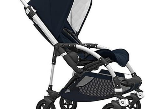 Bugaboo Bugaboo Bee5 Classic  (Quilted) Complete Aluminum/Dark Navy