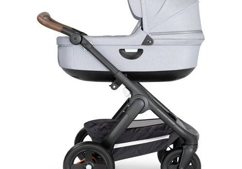 Stokke 2019 Stokke Crusi And Trailz Carrycot In Grey Melange