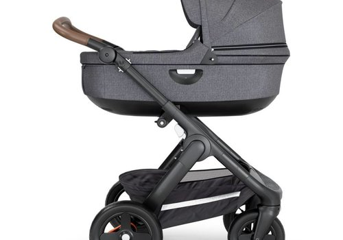 Stokke 2019 Stokke Crusi And Trailz Carrycot In Black Melange