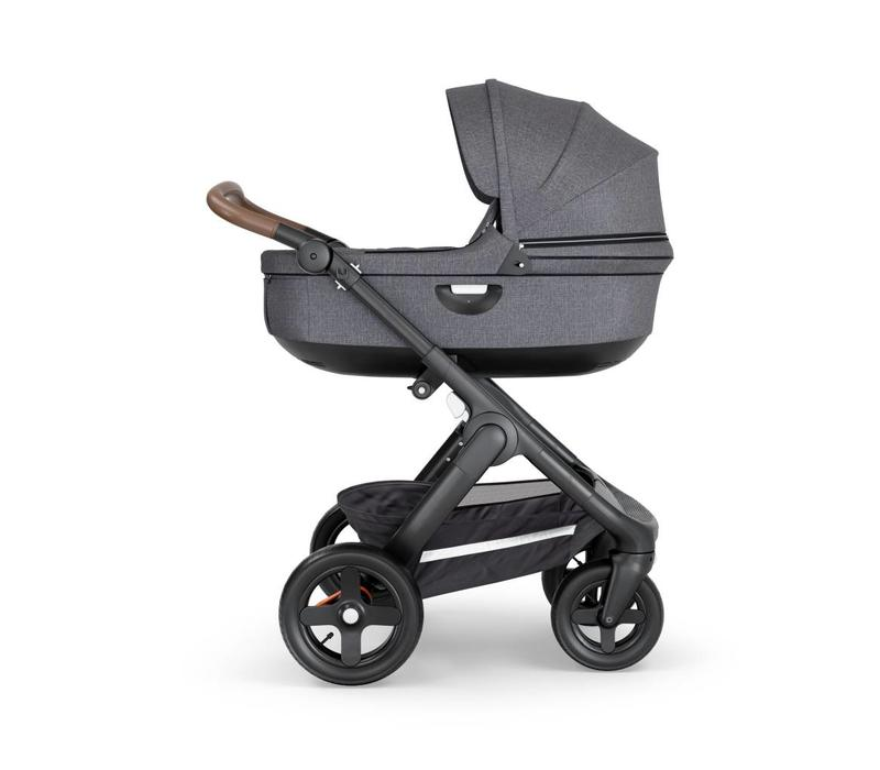 2019 Stokke Crusi And Trailz Carrycot In Black Melange