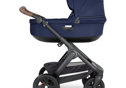 Stokke 2019 Stokke Crusi And Trailz Carrycot In Deep Blue