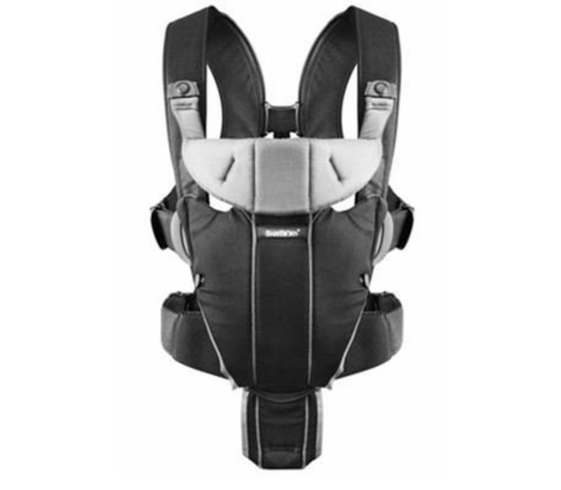 BABYBJORN Baby Carrier Miracle In Black and Silver