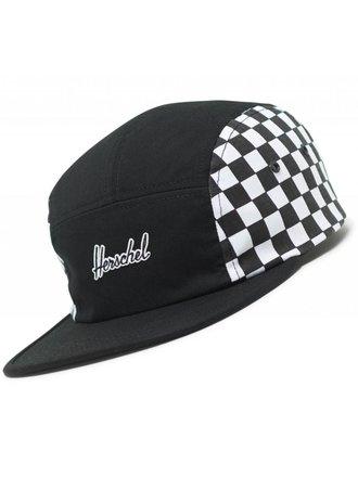 9018b7c1d5046 HERSCHEL HERSCHEL - GLENDALE 5 PANEL CAP (BLACK CHECKERED)
