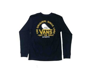 10464b11 VANS VANS - COPE WITH IT KID L/S TEE (DRESS BLUE)