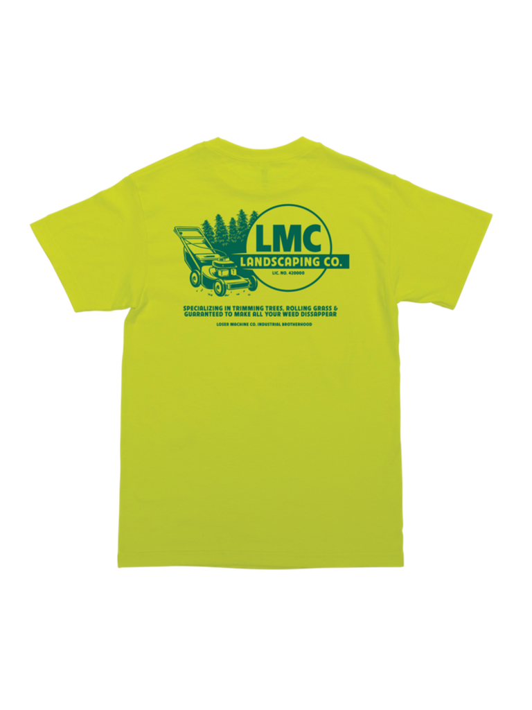 Loser Machine Landscaping Tee Safety Green Boutique Rookery Skateshop