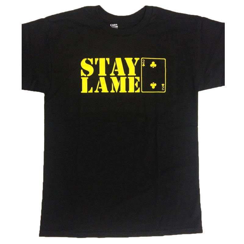 LOW CARD LOW CARD - STAY LAME LOGO TEE