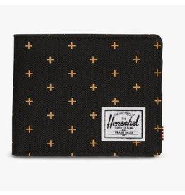 HERSCHEL HERSCHEL - ROY COIN BLACK GRIDLOCK GOLD WALLET