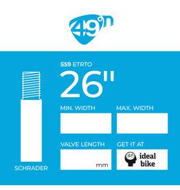 """49N Schrader Tube 26"""" different sizes inner tube"""