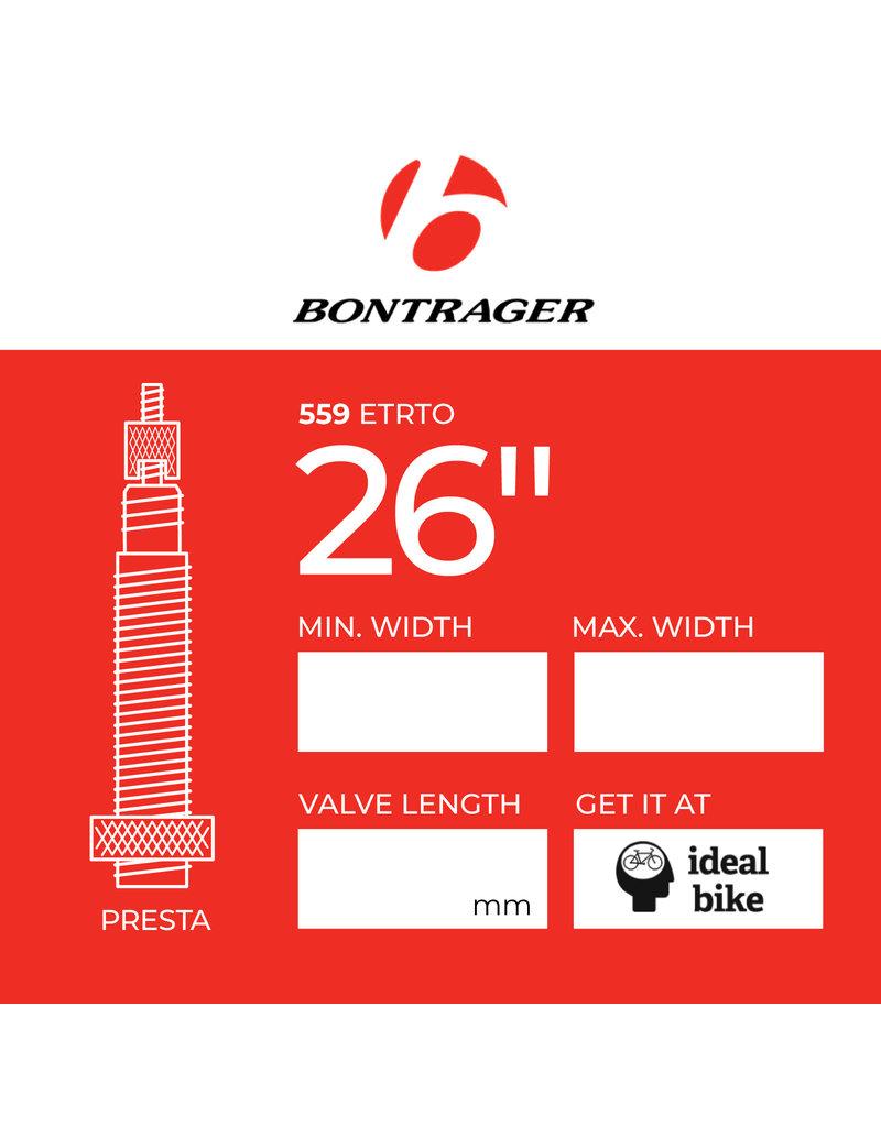 """Bontrager Presta Tube 26"""" different sizes inner tube"""