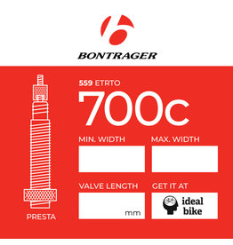 Bontrager Presta Tube 700c different sizes inner tube