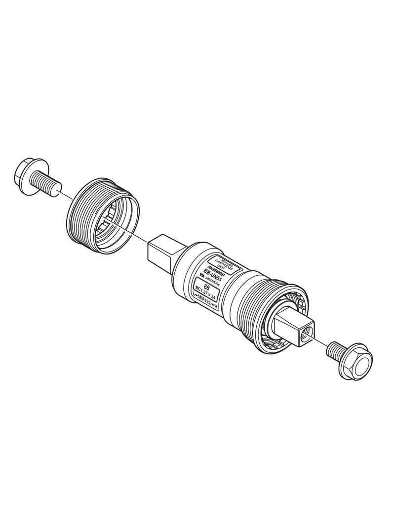 Shimano BB-UN55 Bottom Bracket cartridge