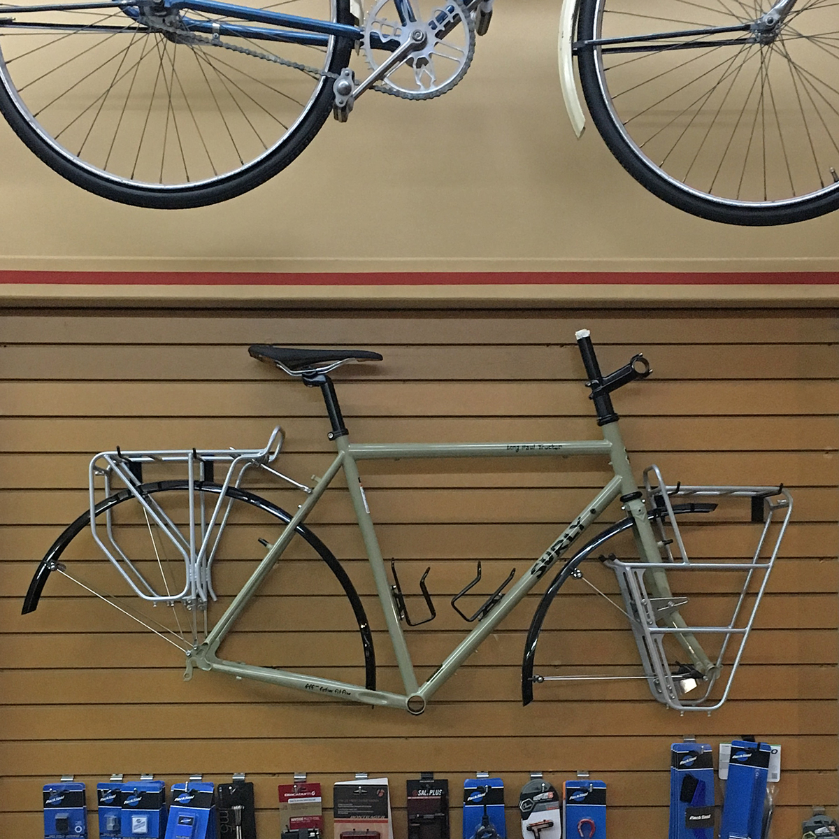 Long Haul Trucker with racks. Get it at Ideal Bike!