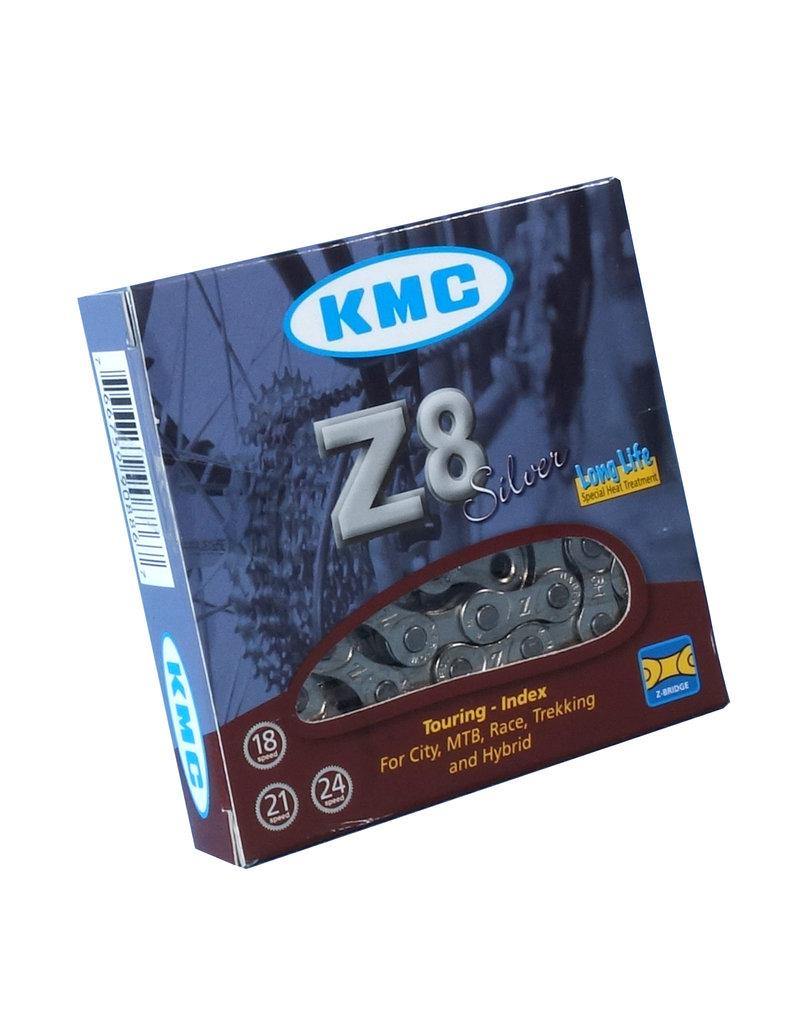 KMC Z8 8 Speed Chain, Silver