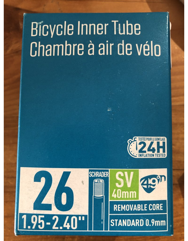 49N SCHRADER SV TUBES IN ASSORTED SIZES INNER TUBE