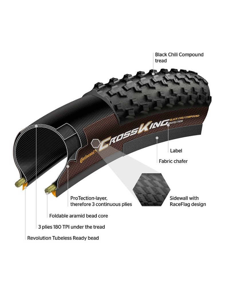 """Continental CONTINENTAL CROSS KING 27.5"""" TIRE"""