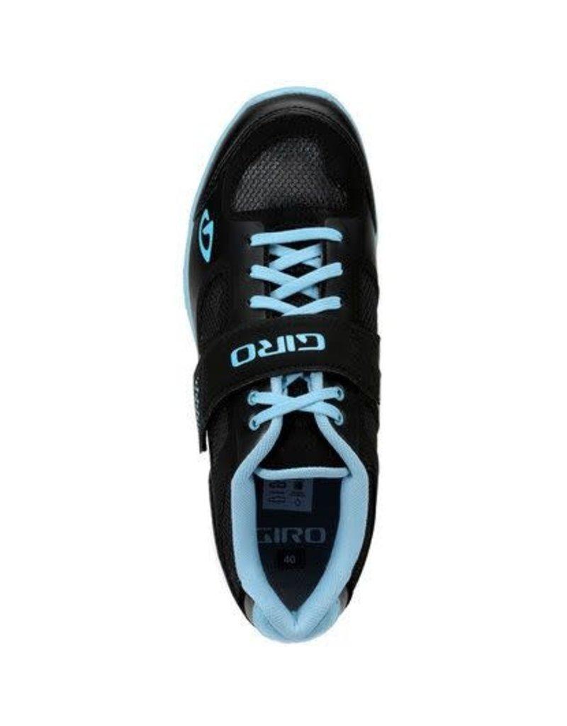 GIRO WHYND BLACK WHITE MILKY BLUE CYCLING SHOE