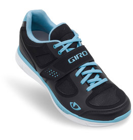 GIRO WHYND BLACK WHITE MILKY BLUE CYCLING SHOE