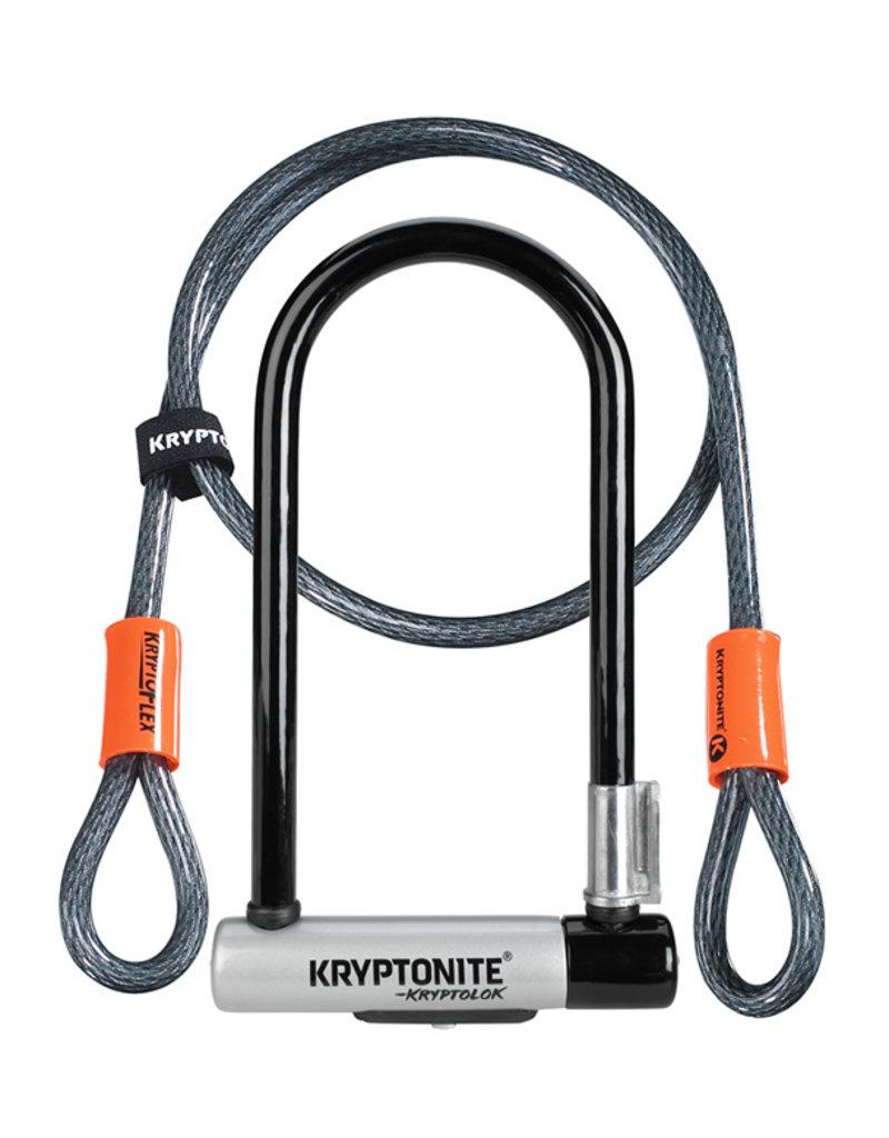 KRYPTONITE KRYPTOLOK STD U-LOCK WITH 4' FLEX CABLE