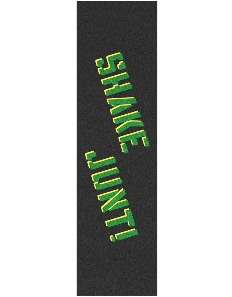 SHAKE JUNT SHAKE JUNT SPRAYED OG GREEN AND YELLOW GRIPTAPE