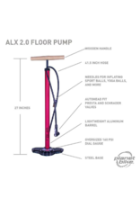 Planet Bike ALX 2.0 Floor Pump - 160psi, Red