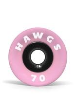 SUPREME HAWGS 70MM 78A PINK STONE-GROUND LONGBOARD WHEELS