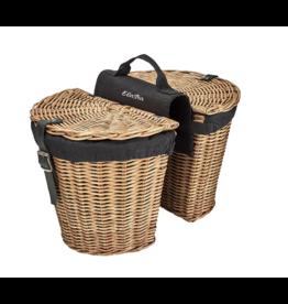 Basket Electra Rattan Panniers w/Liner Natural Rear