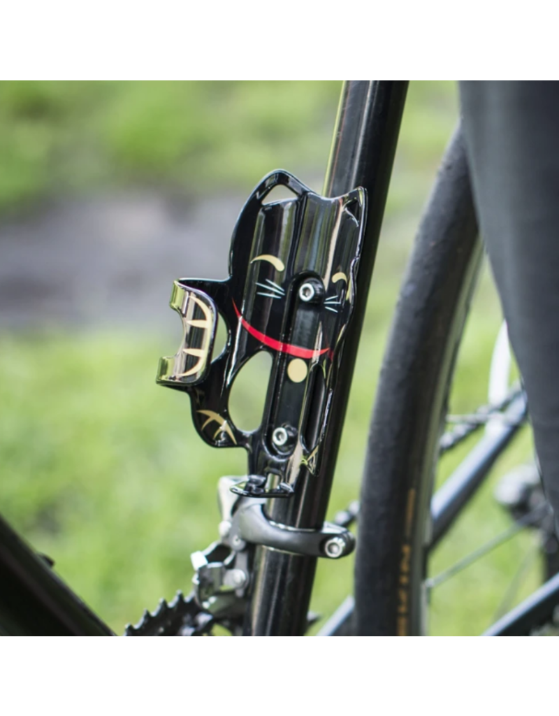 PDW LUCKY CAT BLACK WATER BOTTLE CAGE