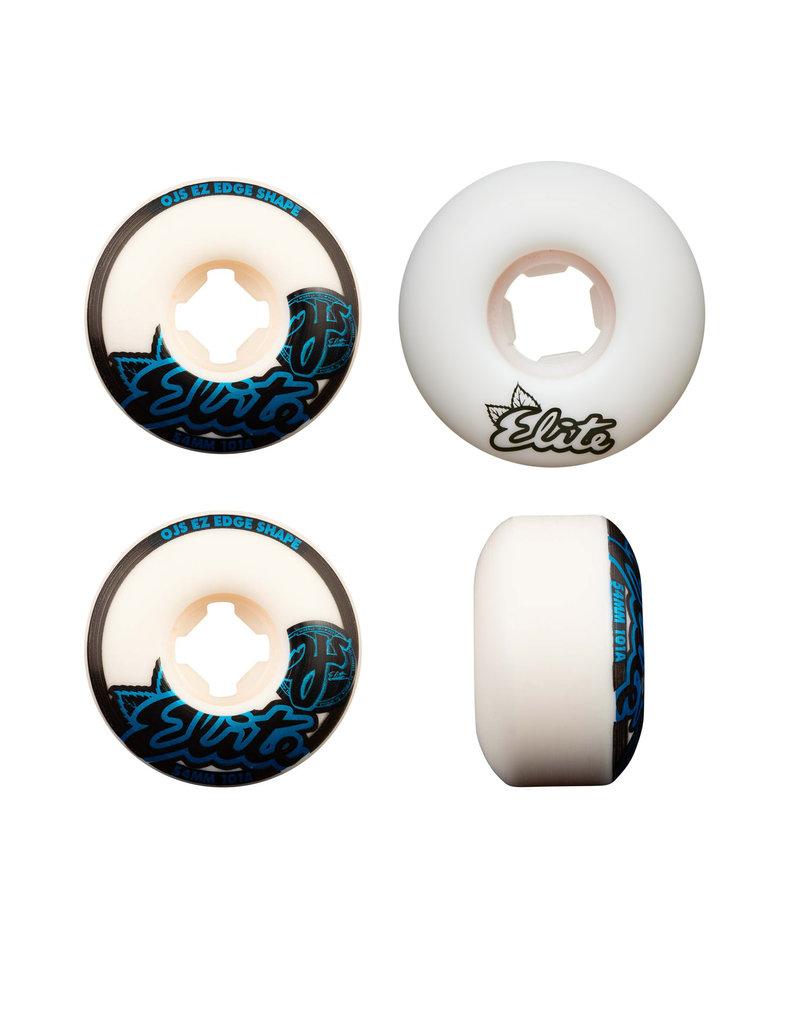 OJS ELITE EZ EDGE 101A WHITE / BLACK / BLUE SKATEBOARD WHEELS