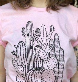 Mermaid Hex Pink Cactus T-Shirt