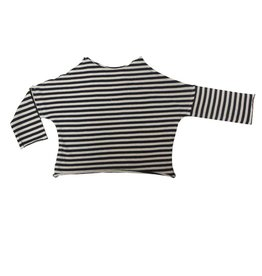 Go Gently Nation Jersey Pullover Tee- Navy Stripe