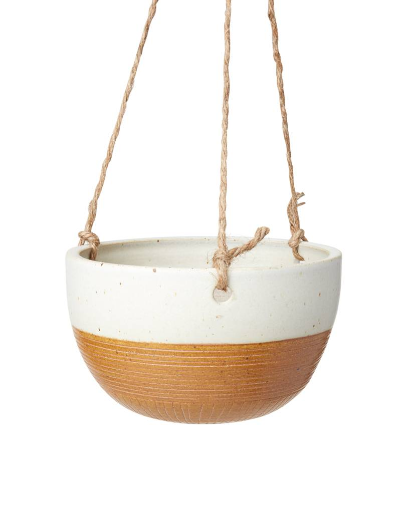 Veak Ceramics Ceramic Hanging Planter-Rust