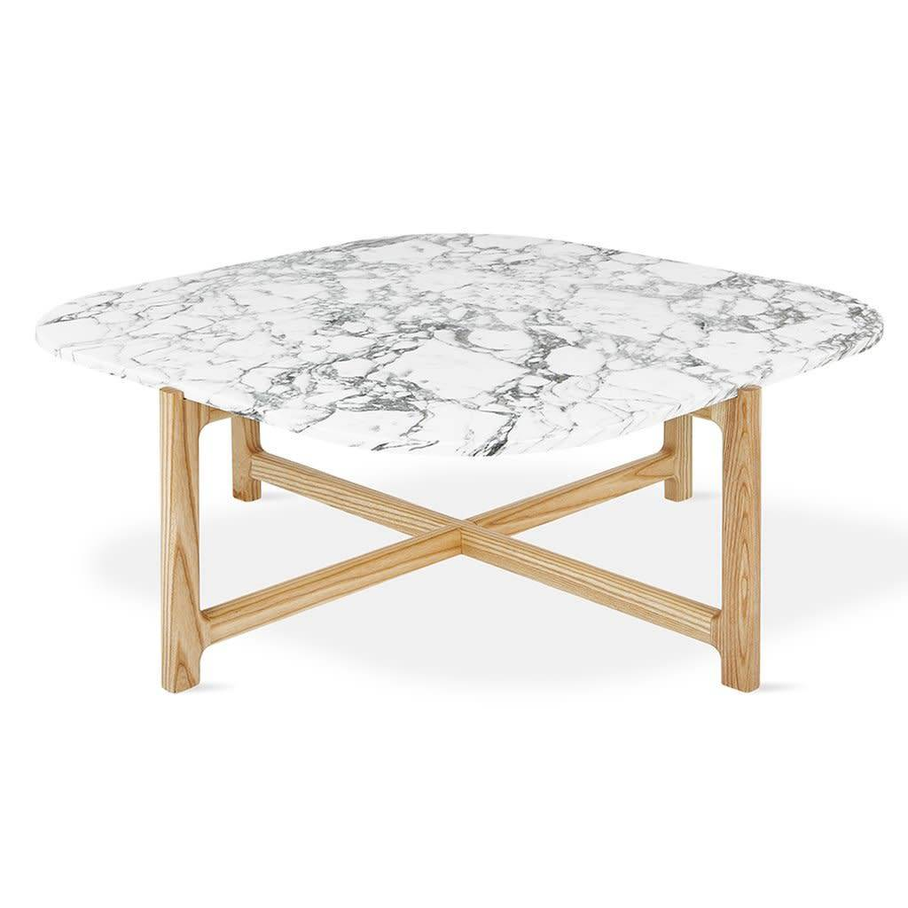Gus Modern Quarry Coffee Table Bianca Marble